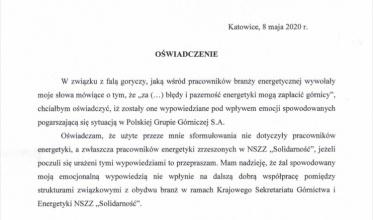 PGG: Oświadczenie szefa ZOK