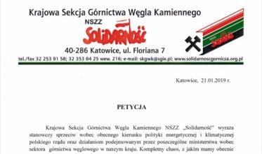 """Górnicza """"Solidarność"""" w biurach poselskich PiS"""
