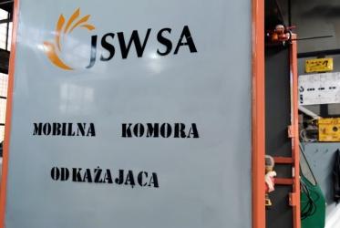 """Mobilna kurtyna w KWK """"Knurów-Szczygłowice"""" Ruch """"Knurów"""""""